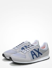 ARMANI EXCHANGE RETRO LOGO SNEAKERS Sneakers [*** pickupInStoreShippingNotGuaranteed_info ***] r