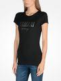 ARMANI EXCHANGE SPECKLE FOIL TEE Logo T-shirt Woman d
