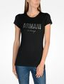 ARMANI EXCHANGE SPECKLE FOIL TEE Logo T-shirt Woman f