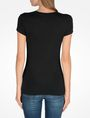 ARMANI EXCHANGE SPECKLE FOIL TEE Logo T-shirt Woman r