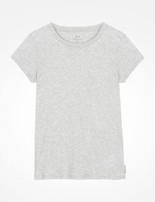 ARMANI EXCHANGE PIMA CREWNECK TEE T-Shirt ohne Logo Damen b