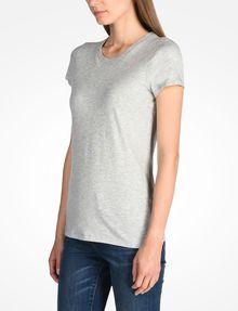 ARMANI EXCHANGE PIMA CREWNECK TEE T-Shirt ohne Logo Damen d