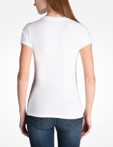 ARMANI EXCHANGE SLASHED STUD LOGO TEE Logo T-shirt Woman r