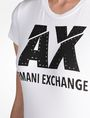 ARMANI EXCHANGE SLASHED STUD LOGO TEE Logo T-shirt Woman e