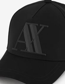 ARMANI EXCHANGE RUBBER LOGO HAT Hat Man d