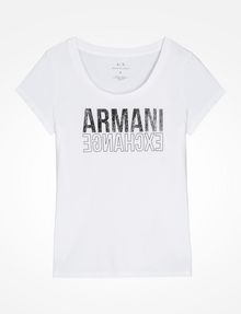 ARMANI EXCHANGE LIVED IN LOGO SCOOP NECK TEE Logo-T-Shirt Damen b