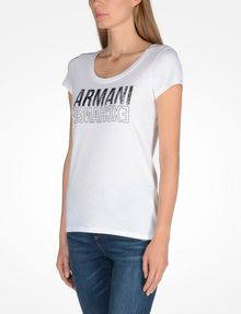 ARMANI EXCHANGE LIVED IN LOGO SCOOP NECK TEE Logo-T-Shirt Damen d