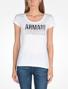 ARMANI EXCHANGE LIVED IN LOGO SCOOP NECK TEE Logo-T-Shirt Damen f