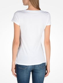 ARMANI EXCHANGE LIVED IN LOGO SCOOP NECK TEE Logo-T-Shirt Damen r
