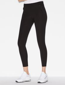 ARMANI EXCHANGE SKINNY PONTE ZIP LEGGING Legging Woman f