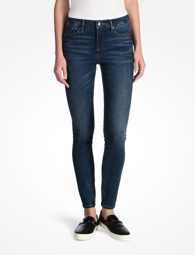 MEDIUM WASH MID RISE SUPER SKINNY JEANS