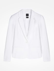ARMANI EXCHANGE CLASSIC ONE-BUTTON BLAZER Blazer Woman b