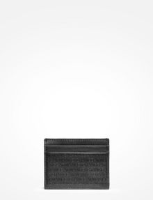 ARMANI EXCHANGE ALLOVER LOGO CARD CASE Small Leather Good Man d
