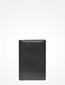 ARMANI EXCHANGE ALLOVER TONAL LOGO CARDCASE Small Leather Good Man f