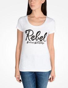 ARMANI EXCHANGE REBEL SCOOP NECK TEE Logo T-shirt D f