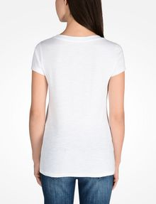ARMANI EXCHANGE REBEL SCOOP NECK TEE Logo T-shirt D r
