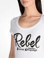 ARMANI EXCHANGE REBEL SCOOP NECK TEE Logo T-shirt D e