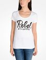 ARMANI EXCHANGE REBEL SCOOP NECK TEE Logo Tee D f