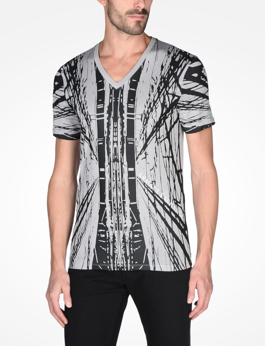 a56339b6e19 Armani Exchange EXPLODED GRAPHIC T SHIRT, Non Logo Tee for Men | A|X ...
