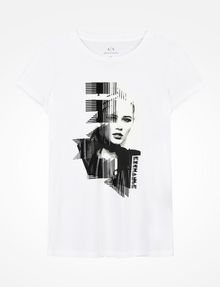 ARMANI EXCHANGE PUNK GIRL TEE Logo Tee D b
