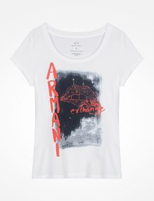 ARMANI EXCHANGE LIPS GRAPHIC TEE Logo T-shirt Woman b