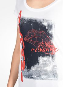 ARMANI EXCHANGE LIPS GRAPHIC TEE Logo T-shirt Woman e