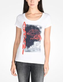 ARMANI EXCHANGE LIPS GRAPHIC TEE Logo T-shirt Woman f