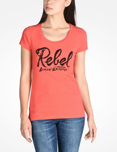 REBEL SCOOP NECK TEE