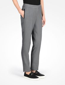 ARMANI EXCHANGE HOUNDSTOOTH FAUX LEATHER TRIM TROUSERS Pant Woman d