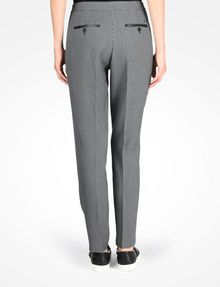 ARMANI EXCHANGE HOUNDSTOOTH FAUX LEATHER TRIM TROUSERS Pant Woman r