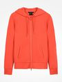 ARMANI EXCHANGE DEBOSSED LOGO HOODIE Fleece Jacket D b