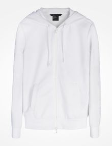 ARMANI EXCHANGE DEBOSSED LOGO HOODIE Fleece Jacket Woman b