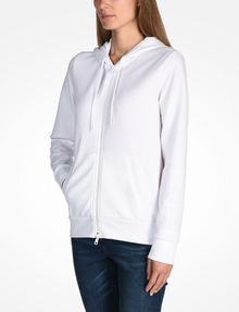 ARMANI EXCHANGE DEBOSSED LOGO HOODIE Fleece Jacket Woman d