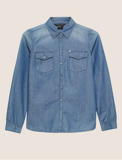TAILORED DENIM WORKSHIRT
