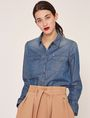 ARMANI EXCHANGE TAILORED DENIM WORKSHIRT Denim Shirt Woman f