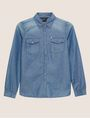 ARMANI EXCHANGE TAILORED DENIM WORKSHIRT Denim Shirt Woman r