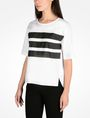 ARMANI EXCHANGE BOLD STRIPED BLOUSE S/S Woven Top D d