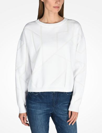 KNIT GRAPHIC DETAIL SWEATER