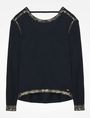ARMANI EXCHANGE FOIL TRIM CREW NECK SWEATER Pullover Woman b