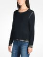 ARMANI EXCHANGE FOIL TRIM CREW NECK SWEATER Pullover Woman d