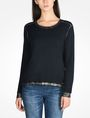 ARMANI EXCHANGE FOIL TRIM CREW NECK SWEATER Pullover Woman f