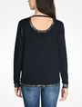 ARMANI EXCHANGE FOIL TRIM CREW NECK SWEATER Pullover Woman r