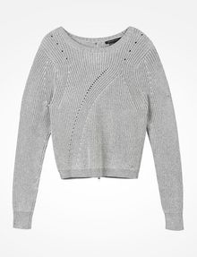 ARMANI EXCHANGE BACK ZIP CREW NECK SWEATER Pullover Woman b