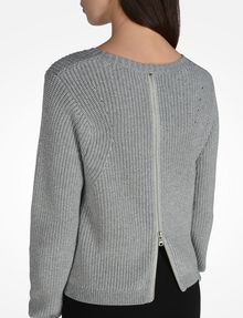 ARMANI EXCHANGE BACK ZIP CREW NECK SWEATER Pullover Woman e