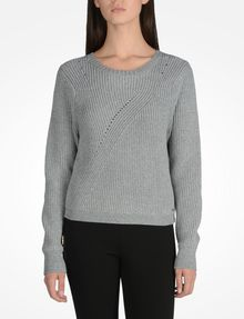 ARMANI EXCHANGE BACK ZIP CREW NECK SWEATER Pullover Woman f