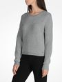 ARMANI EXCHANGE BACK ZIP CREW NECK SWEATER Pullover Woman d