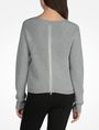 ARMANI EXCHANGE BACK ZIP CREW NECK SWEATER Pullover Woman r