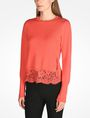 ARMANI EXCHANGE LACE TRIM CREWNECK SWEATER Pullover D d