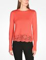 ARMANI EXCHANGE LACE TRIM CREWNECK SWEATER Pullover D f