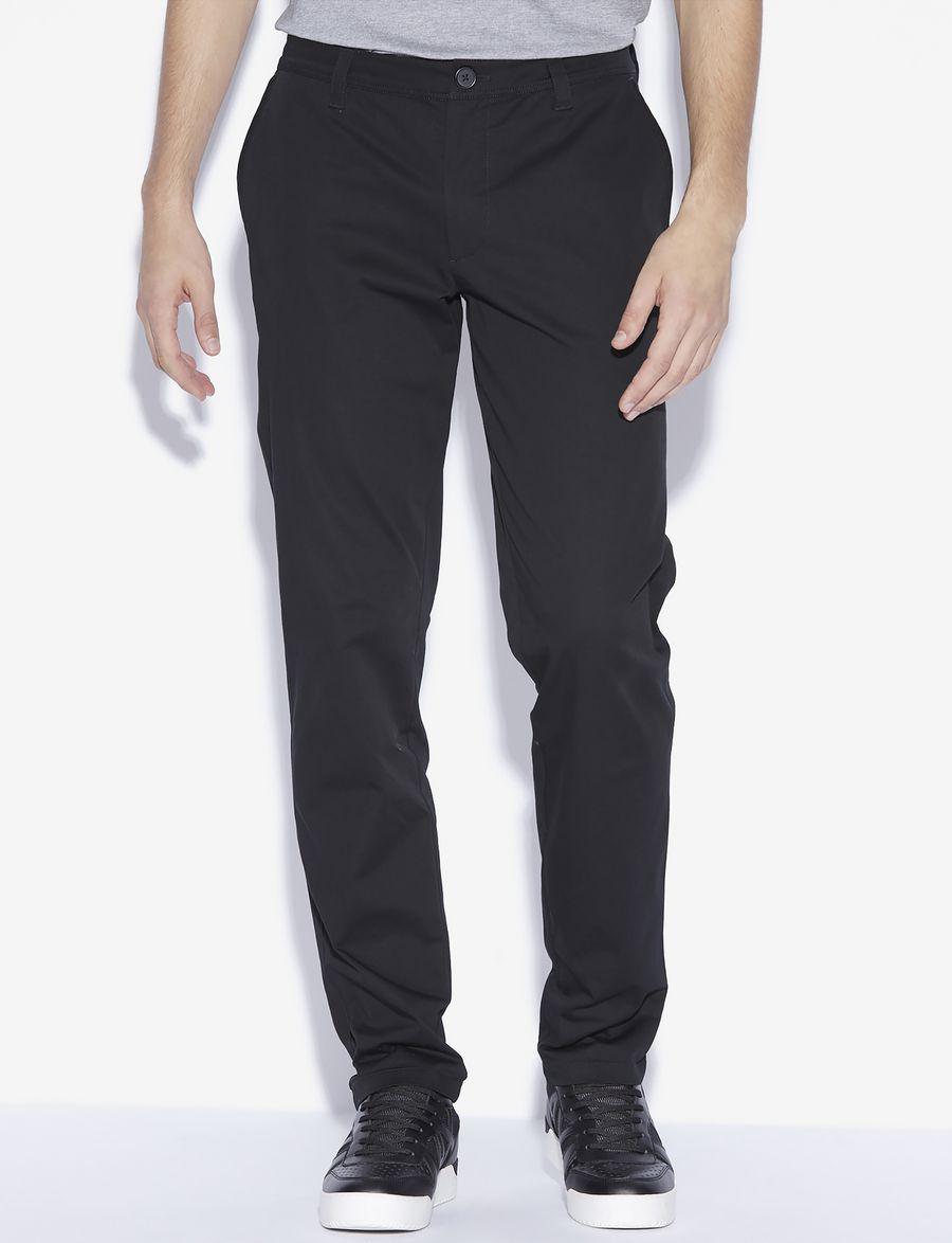 armani exchange pantalon chino coupe droite classique pantalon chino pour homme a x online. Black Bedroom Furniture Sets. Home Design Ideas